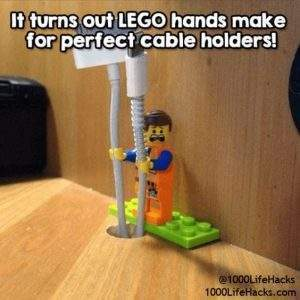 Use A Lego Character To Keep Your Cables Tidy