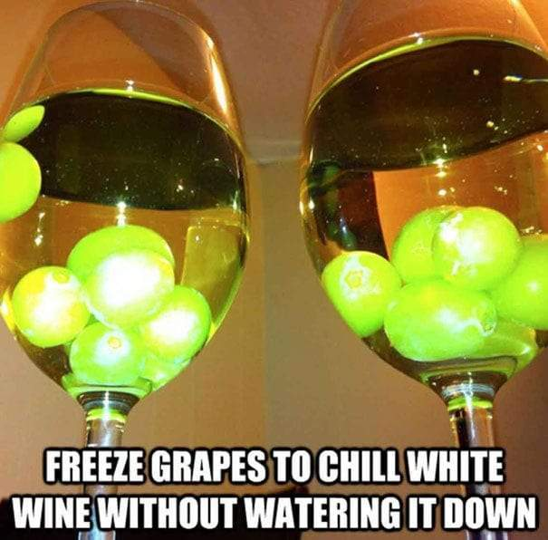Chilled wine life hack
