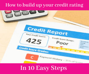 How to build up your credit rating